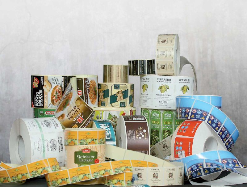 Adhesive labels Italy